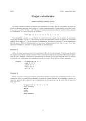 projet unix calculette