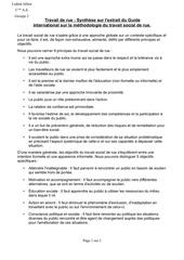 synthese du texte guide international sur la methodologie du travail social de rue