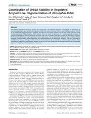 proteine prion gardienne du souvenir