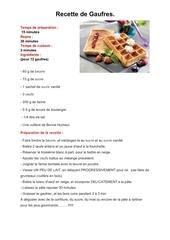 Fichier PDF recette de gauffres