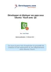 developper et deployer ses apps sous ubuntu touch