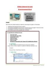 Fichier PDF cours traitement de texte