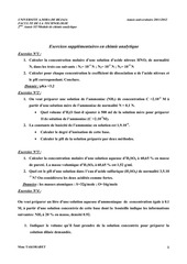 exercices supplementaires en chimie analytique