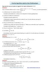 fonction logarithme neperien 4eme mathematiques