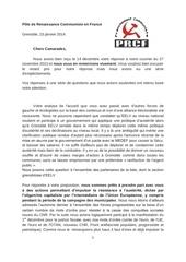 lettre au pg 23 janvier 2014
