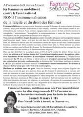femmes solidaires arcueil contre le fn