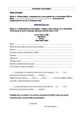 Fichier PDF formulaire 20 ans