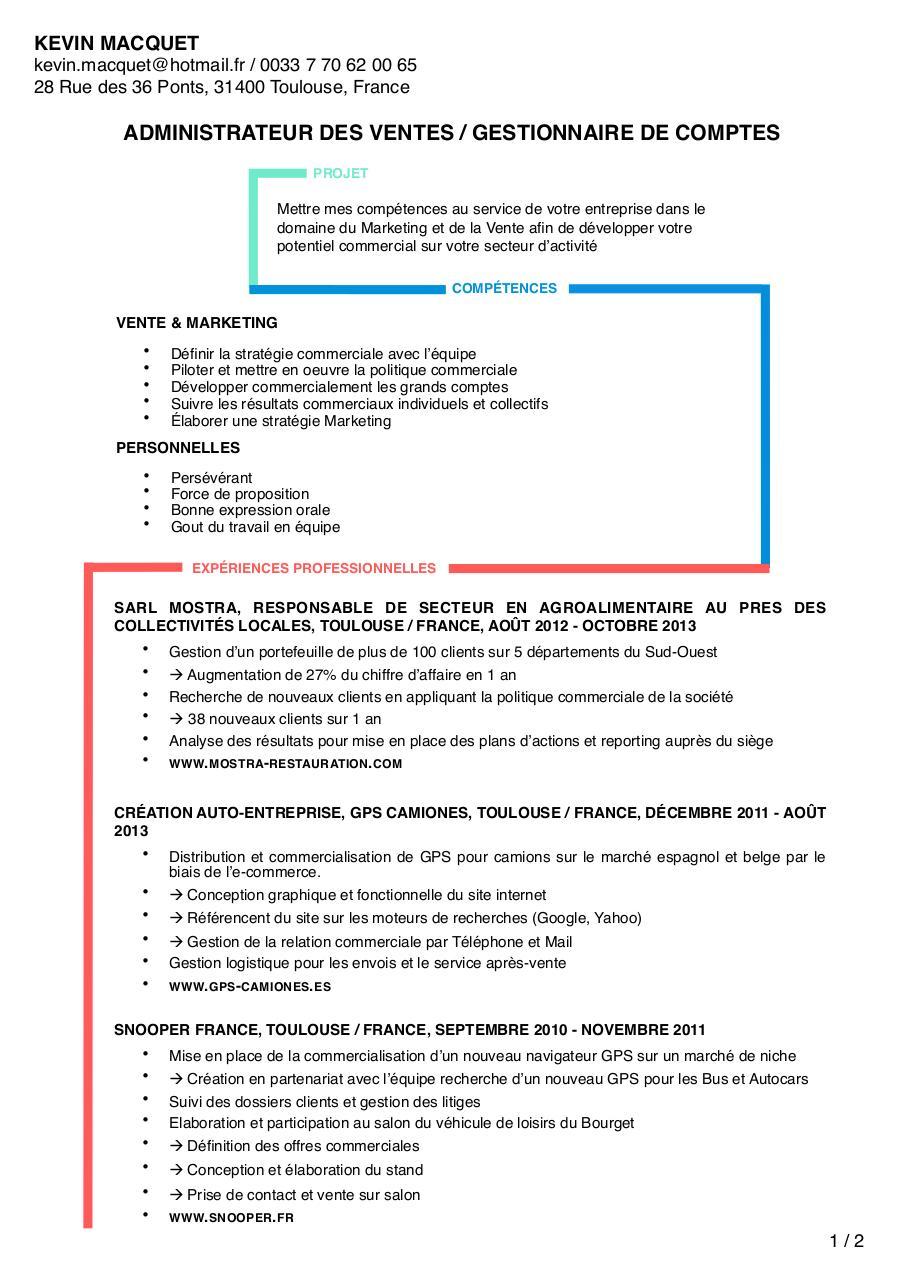 cv kevin macquet  cv kevin macquet pdf