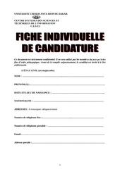 fiche individuelle de candidature 2014