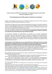 lettre ouverte intersyndicale ministre 140224