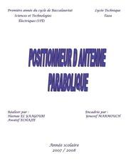 positionneur parabolique