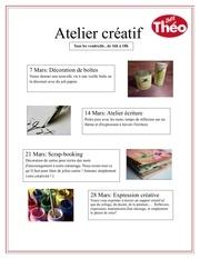 Fichier PDF atelier creatif chez theo