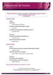 Fichier PDF cu orthodontie annexe agenda