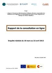 rapport consultation en ligne dci 26 07 13