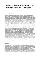 declaration droits femme