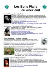 les bons plans du week end semaine n 10 2014
