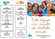 programme 8 au 14 mars 2014