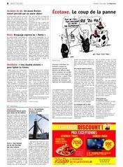 vendredi 7 mars 2014 Ecotaxe le coup de la panne