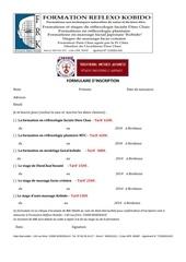 1 formulaire d inscription formation