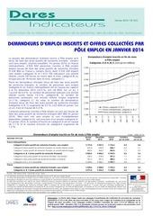 rapport dares chomage janvier 2014