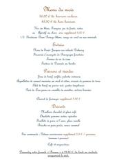 menu du mois de mars 2014