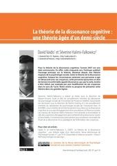 vaidis halimi falkowicz 2007 la dissonance cognitive