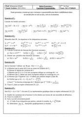 exercices les fonctions exponentielles bac sc exp