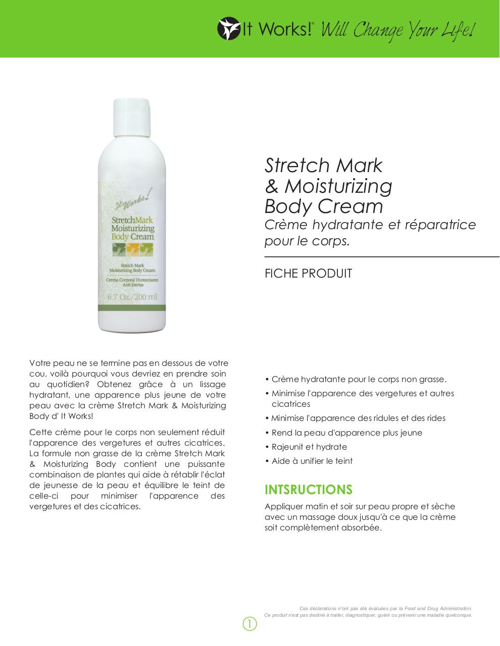 Fiche Produit Stretch Mark Cream millie.pdf - page 1/2