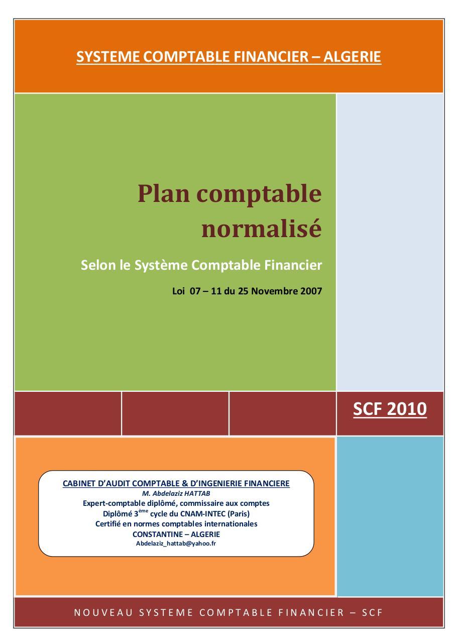 PLAN ALGERIE SCF PDF COMPTABLE TÉLÉCHARGER
