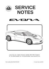 service notes evora