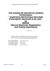analyse de securite du systeme de vote