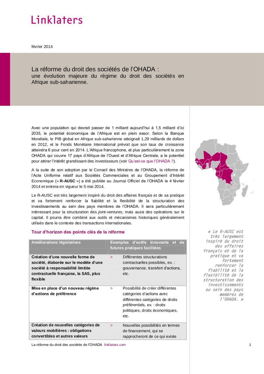 Newsletter Par Any Authorised User La Reforme Du Droit Des