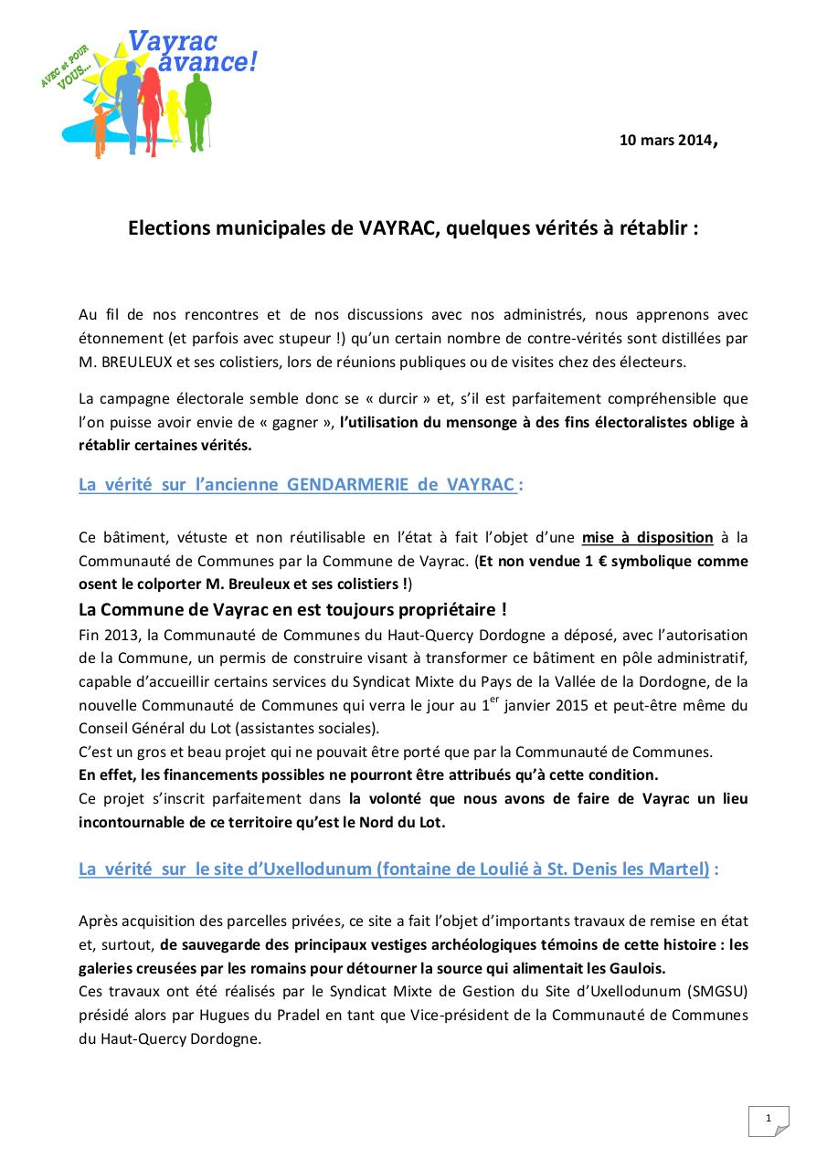 Aperçu du document Quelques verites a retablir.pdf - page 1/4