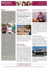 newsletter n 1 residences etudiantes myroom