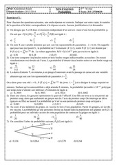 serie d exercices probabilites bac sc exp