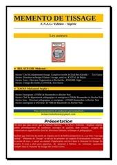 Fichier PDF memento de tissage