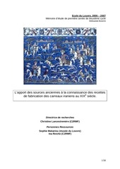 memoire recettes carreaux 2006 2007