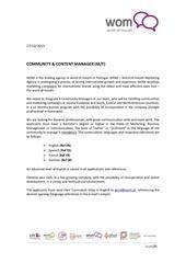 Fichier PDF job offer communitycontent manager en
