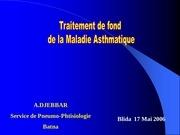 traitement de fond de asthme