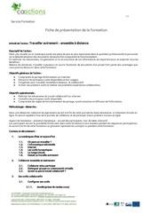 Fichier PDF travailler ensemble a distance