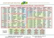 calendrier definitif des concours officiels