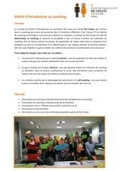 presentation atelier de coaching