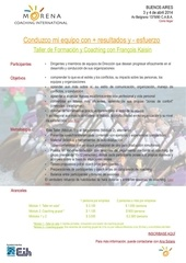 taller coaching buenos aires 3 y 4 de abril 2014