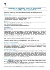 reglement epreuve courir au mont afrique 2014