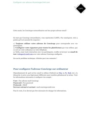 tutoriel mail concierge