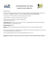 stage regional de trial 5 avril 2014 a belbeuf