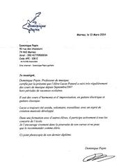 Fichier PDF lettre de recomandation