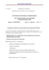 Fichier PDF capes chimie2 decembre 2004 www tunisie etudes info