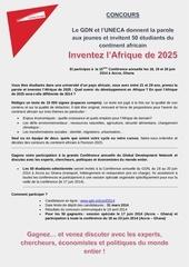 flyer french inventez l afrique de 2025