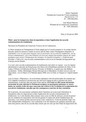 lettre ouverte accords de readmission 20 janvier 2009 1
